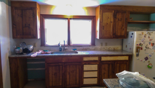 View of cabinets w sink