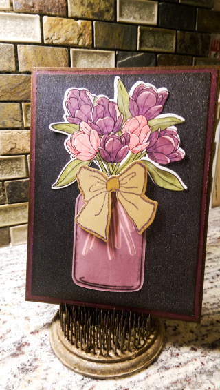 Feb blog hop inspiration tulip jar