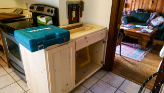 New cabinet washer space