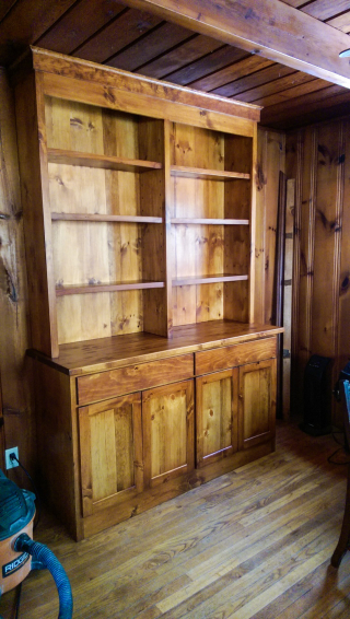 Hutch w shelves and doors